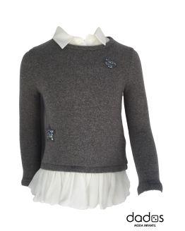 Elsy jersey niña gris