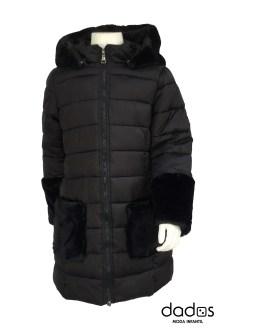 IDO abrigo negro acolchado