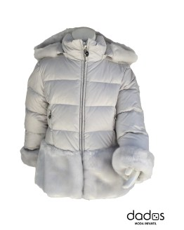 Elsy abrigo gris acolchado