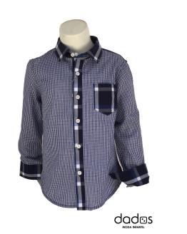 Aygey camisa niño cuadros azules