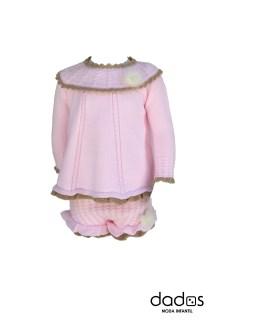 Rahigo vestido con pololo rosa