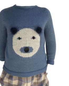 Floc Baby conjunto niño jersey oso detalle