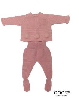 Floc Baby conjunto bebé rosa pompones