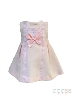 Dolce Petit vestido rosa con braga y capota