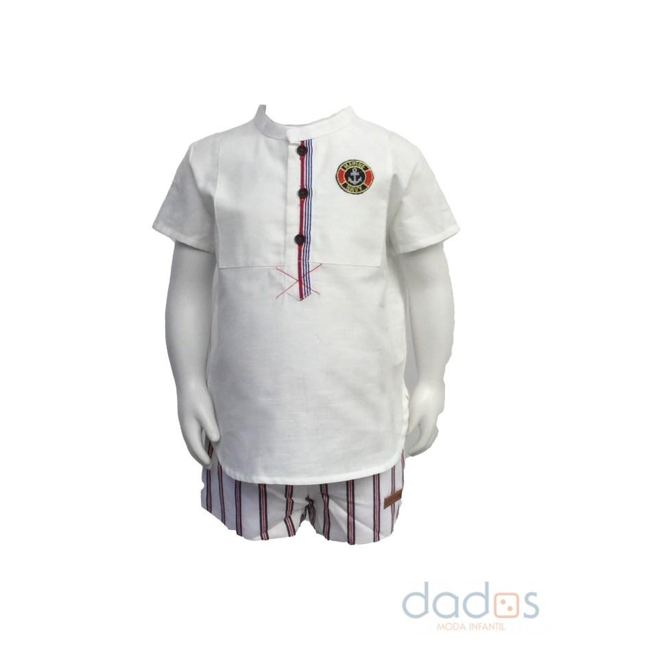 Lolittos colección navy conjunto bermuda y camisa