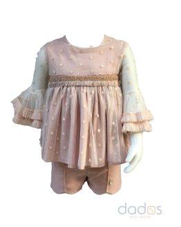 Bamboline colección Amina conjunto short y blusa