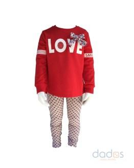 IDO conjunto legging y sudadera Love