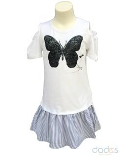 IDO vestido blanco mariposa