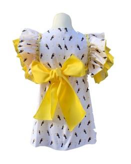 Baby Yiro vestido estampado tucanes esspalda