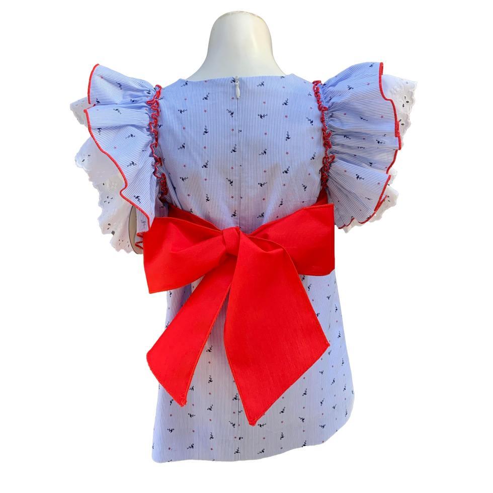 Espalda Baby Yiro vestido flamencos