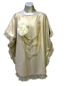 BELLA BIMBA colección Anjum vestido poncho dorado