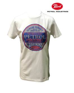 PETROL camiseta blanca logo redondo