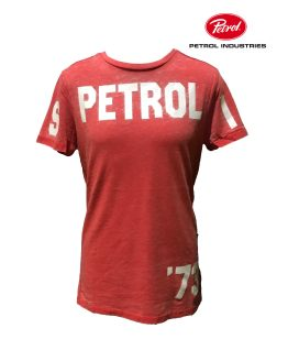 PETROL camiseta roja letras