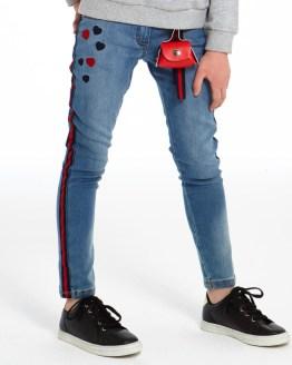 IDO pantalón vaquero niña raya lateral