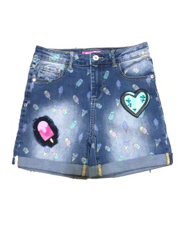 GUESS short vaquero estampado helados