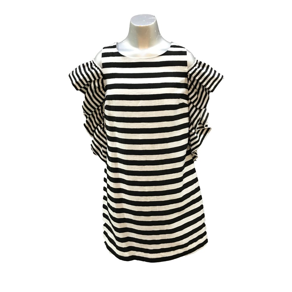 MONNALISA vestido rayas blanco y negro