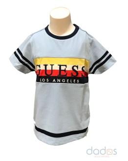 Guess kids camiseta celeste franjas
