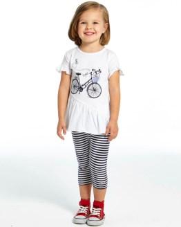 IDO conjunto legging rayas y camiseta bicicleta