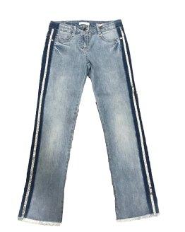 Elsy pantalón vaquero raya plateada
