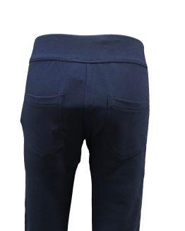 Elsy pantalón felpa azul marino trasera
