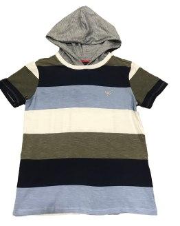 Guess camiseta chico rayas con capucha