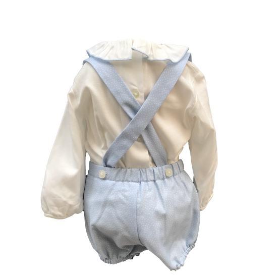 Espalda Dolce Petit conjunto bebé celeste y beige