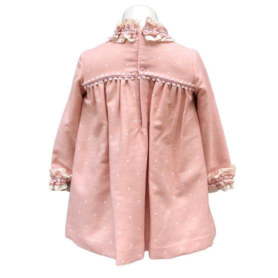 Espalda Dolce Petit vestido rosa topos