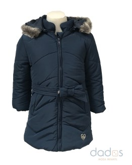Dolce Petit abrigo acolchado azul marino