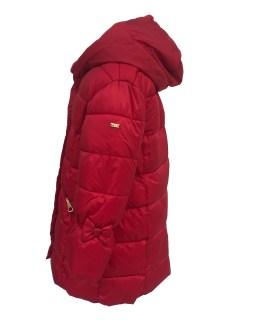 Vista IDO abrigo acolchado rojo niña