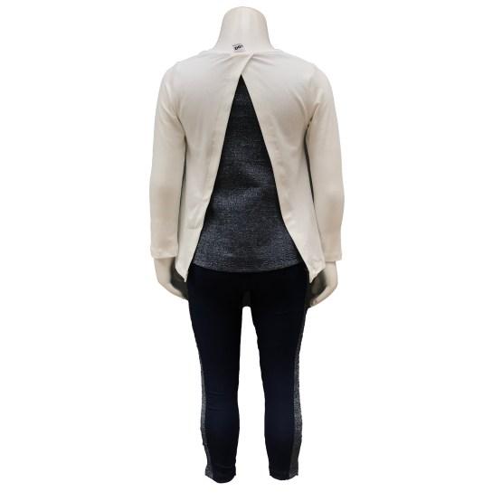 Espalda IDO conjunto legging y camiseta blanca corazón