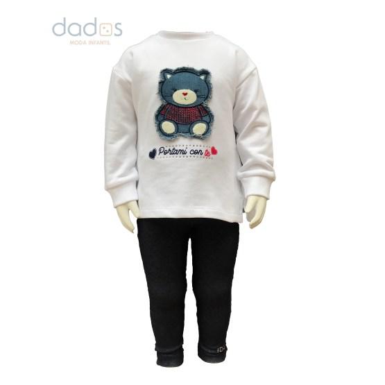 IDO conjunto bebé legging y sudadera oso
