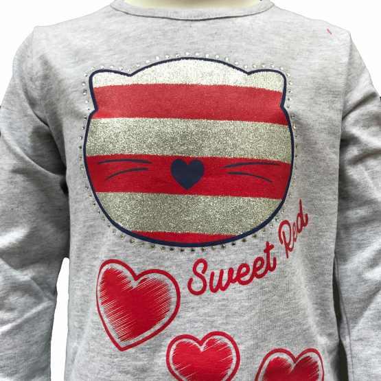 Detalle IDO conjunto bebé legging y camiseta osos y corazones