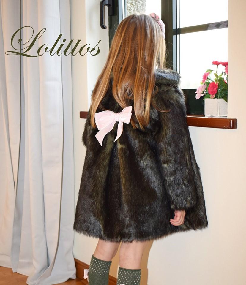 Espalda Lolittos colección Dumbbo abrigo de pelo