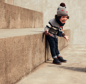 Catálogo IDO jersey niño gris con rayas