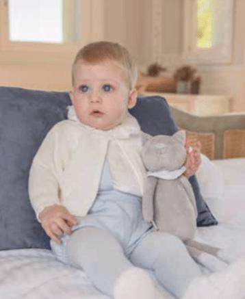 Dolce Petit conjunto bebé celeste y beige catálogo