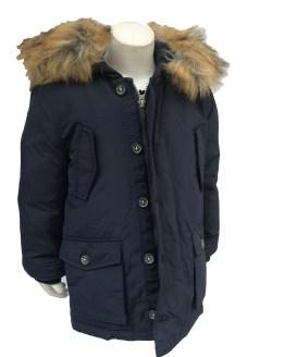IDO chaquetón niño azul navy con capucha de pelo