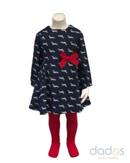 Tutto Piccolo colección Pedigrí vestido con leotardos
