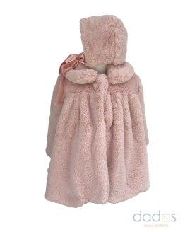 Marta y Paula abrigo mutón rosa