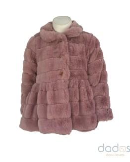 Marta y Paula abrigo vuelo rosa mutón