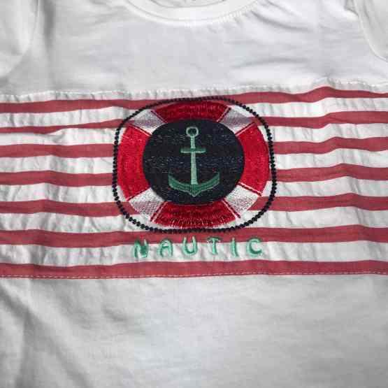 Detalle camiseta Lolittos conjunto colección anclas