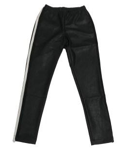 Monnalisa pantalón negro con tira de ecopiel