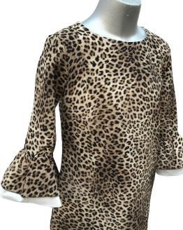 Detalle Monnalisa vestido animal print