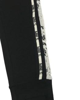 Monnalisa pantalón negro con tira de encaje detalle