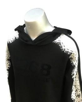 Detalle Monnalisa vestido negro 1968