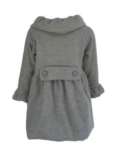 Espalda Coco Acqua abrigo paño gris