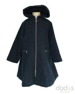 Coco Acqua abrigo paño azul marino vuelo