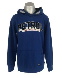 Petrol sudadera logo relieve azul