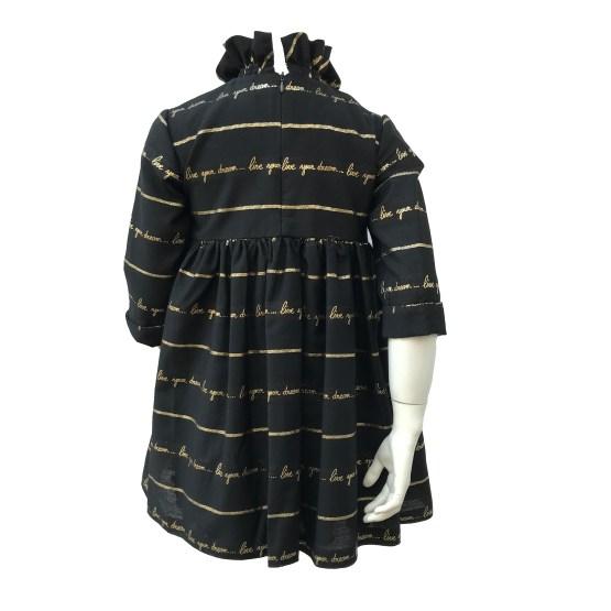 Espalda Bella Bimba Bamboline colección Arce vestido cuello alto