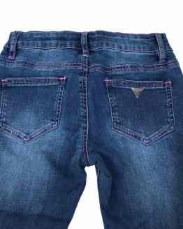 Trasera Guess pantalón tejano con franja lateral cristales