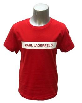 Karl Lagerfeld camiseta chico roja